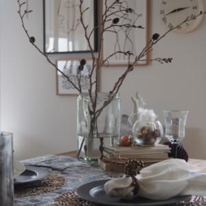 クリスマスのテーブルコーディネートを家にあるものでつくる!